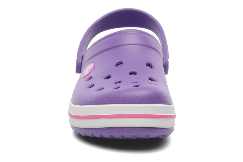 Crocband kids neon purple/neon magenta
