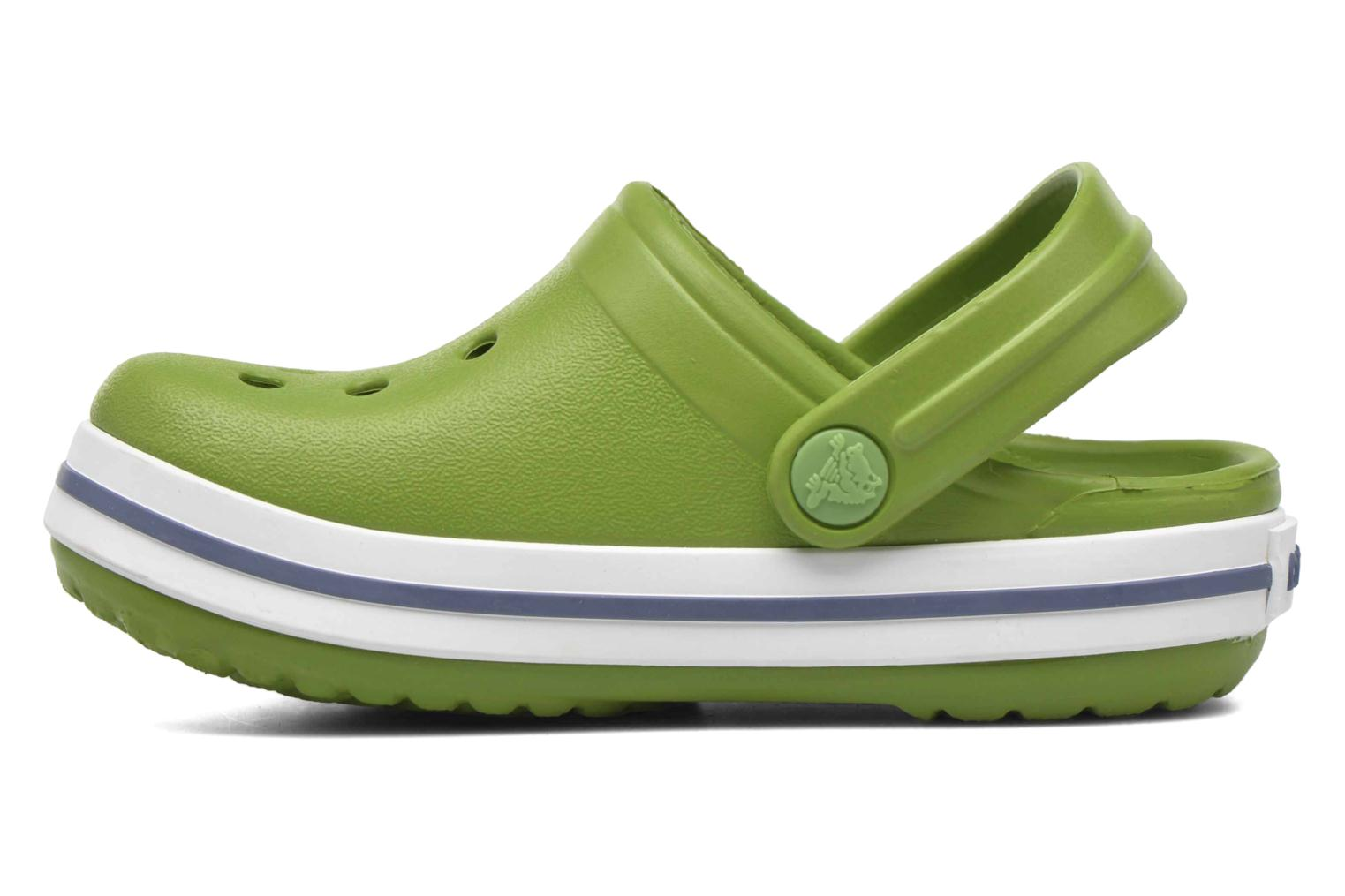 Sandals Crocs Crocband kids Green front view