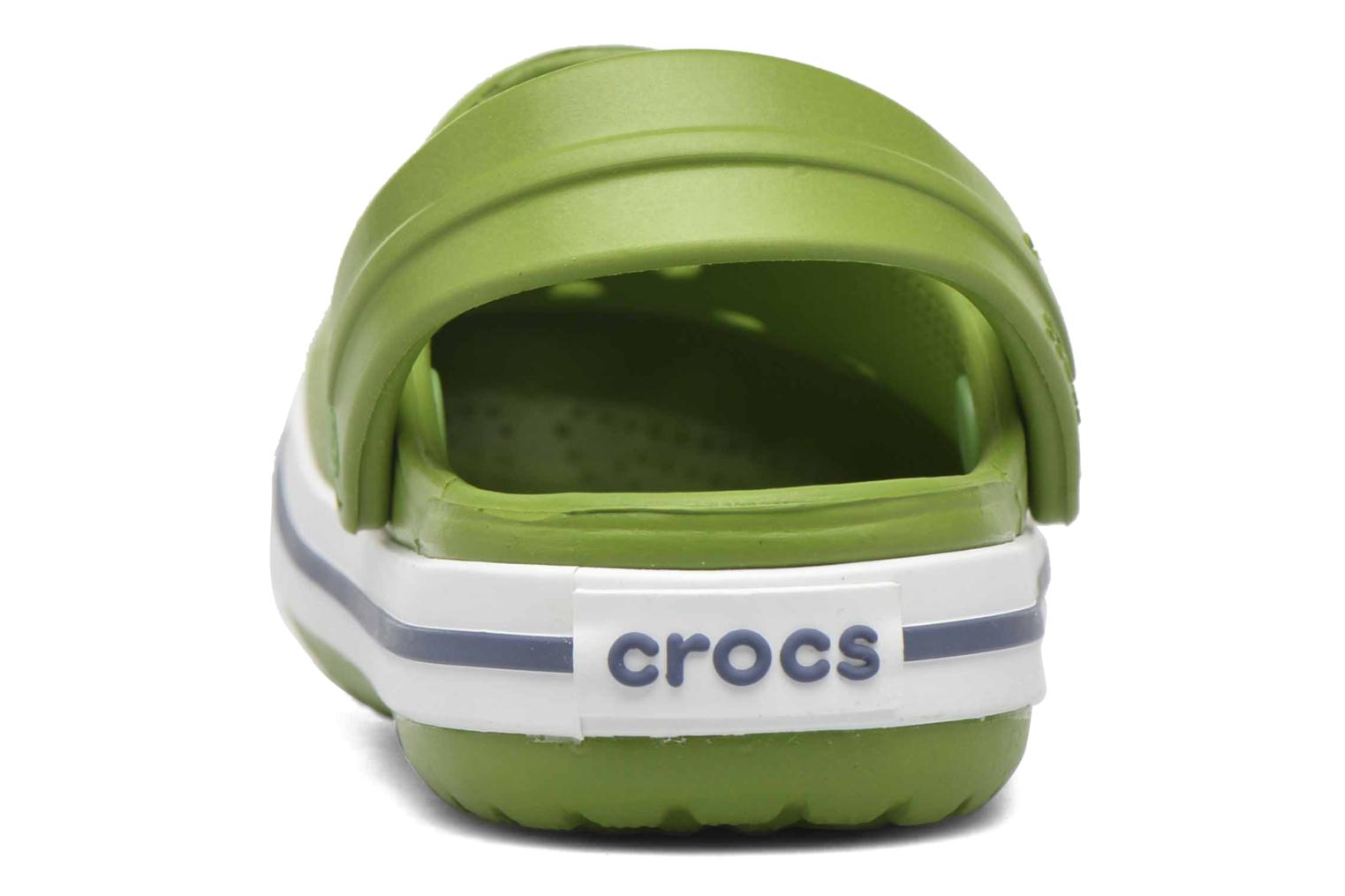 Sandals Crocs Crocband kids Green view from the right