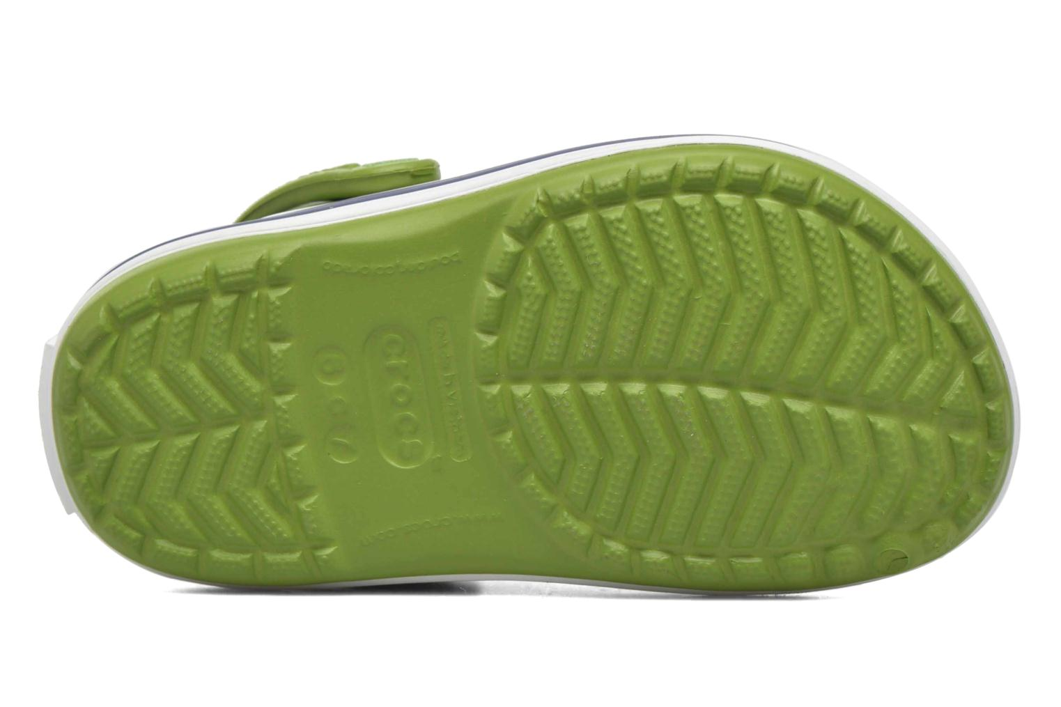 Sandals Crocs Crocband kids Green view from the left