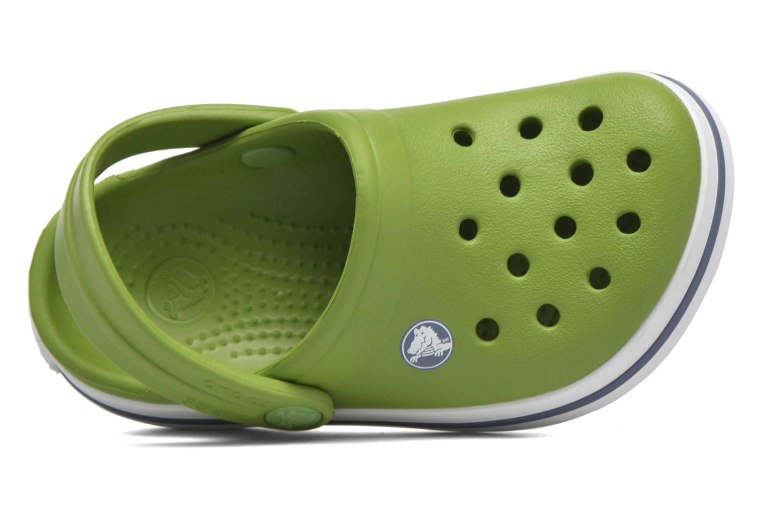 Sandals Crocs Crocband kids Green view from above