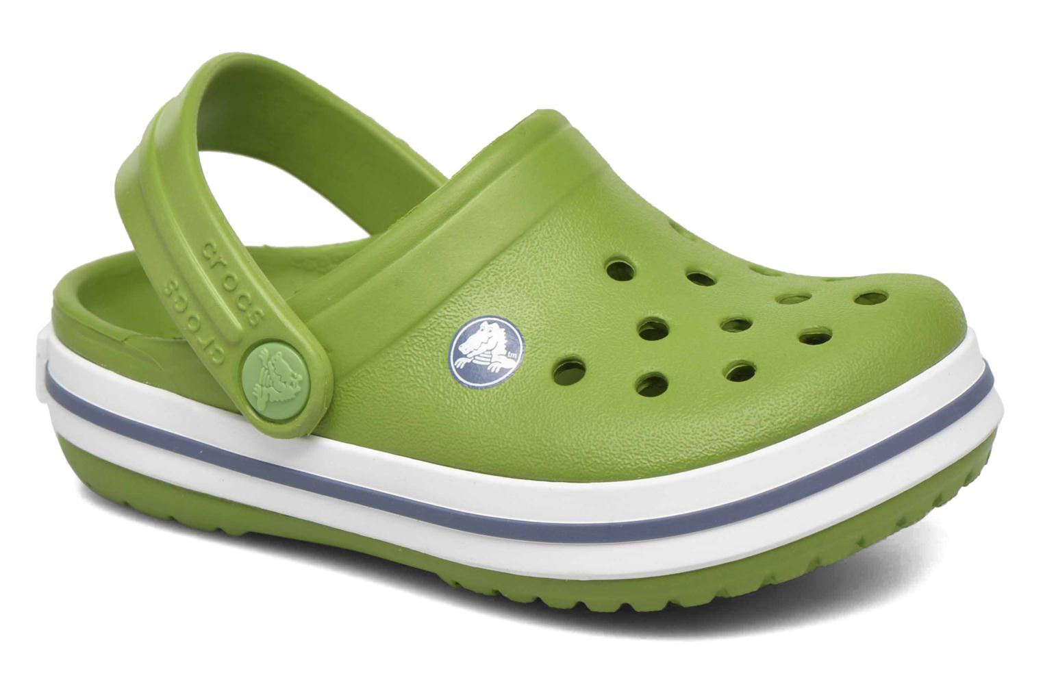 Sandals Crocs Crocband kids Green detailed view/ Pair view