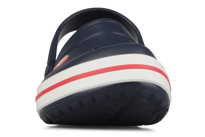 Sandales et nu-pieds Crocs Crocband kids Bleu vue portées chaussures