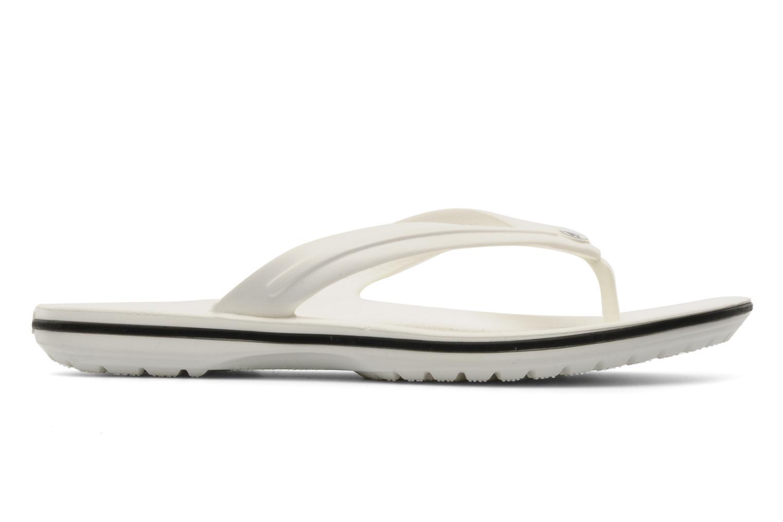 Zehensandalen Crocs Crocband Flip W weiß ansicht von hinten