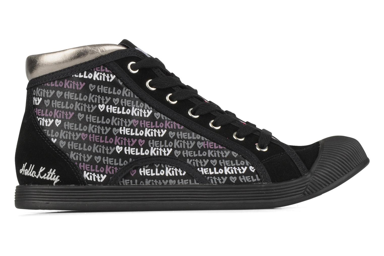 Sneakers Hello Kitty Hk luna mid Nero immagine posteriore