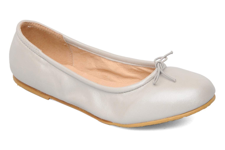 Ballerinaer Bloch Arabella Grå detaljeret billede af skoene
