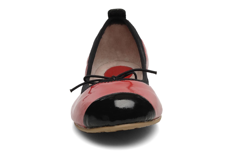 Ballerines Bloch Girls luxury Rouge vue portées chaussures