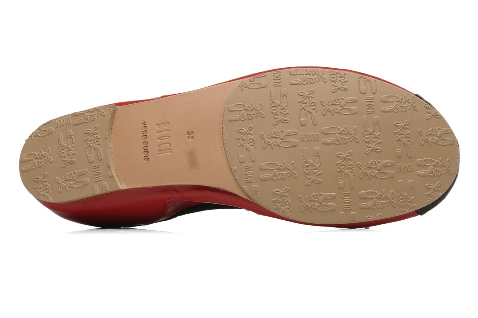 Ballet pumps Bloch Girls luxury Red view from above