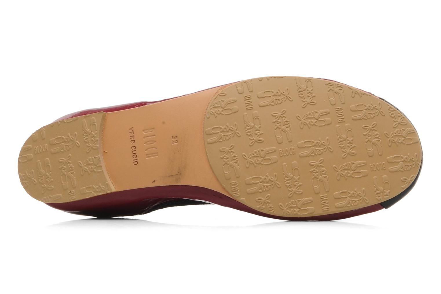Ballerines Bloch Girls luxury Bordeaux vue haut