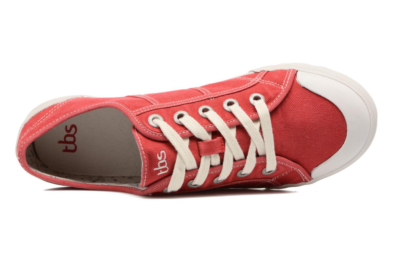 Sneaker TBS Opiace rot ansicht von links