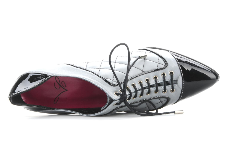 Chaussures à lacets Charlotte Vanel Casino Gris vue gauche