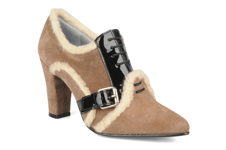 Chaussures à lacets Charlotte Vanel Dandy Marron vue détail/paire