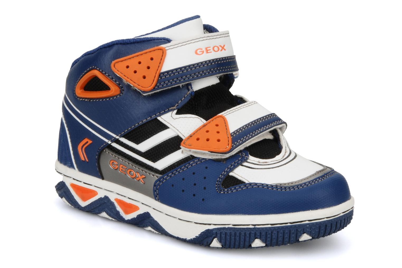 Baskets Geox J captain c Bleu vue détail/paire