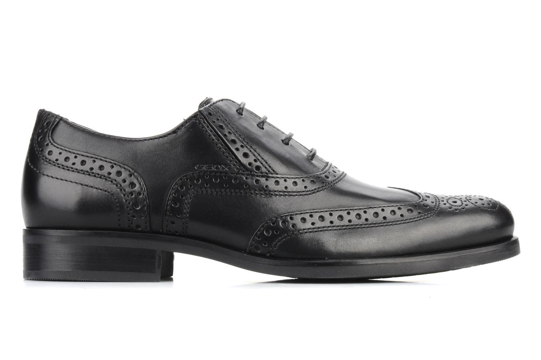 Lace-up shoes Geox U brooklyn k Black back view