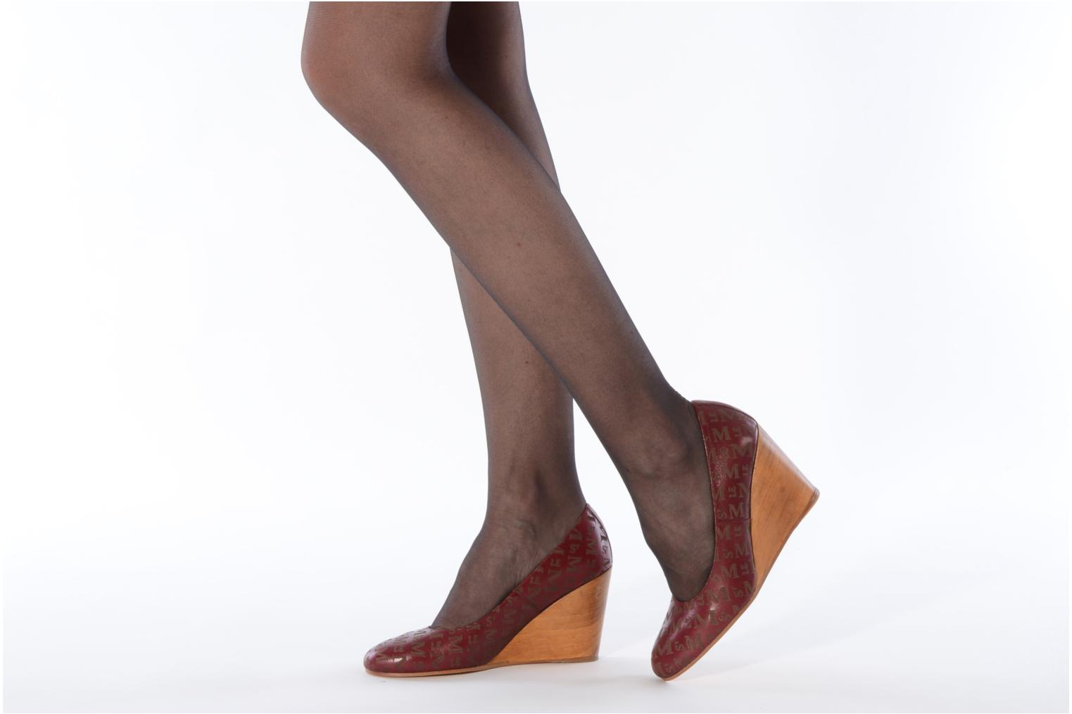 High heels Le Mont St Michel Ponoma Burgundy view from underneath / model view