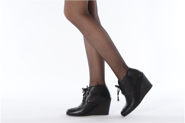 Bottines et boots Le Mont St Michel Alameda Noir vue bas / vue portée sac