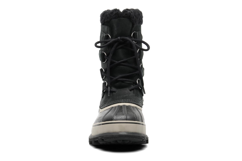 Sportschuhe Sorel Caribou schwarz schuhe getragen
