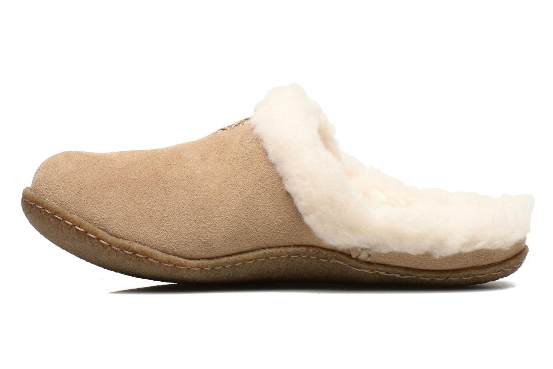 Pantoffels Sorel Nakiska slide Beige voorkant