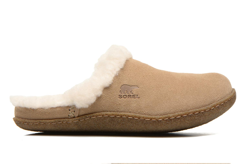 Pantoffels Sorel Nakiska slide Beige achterkant