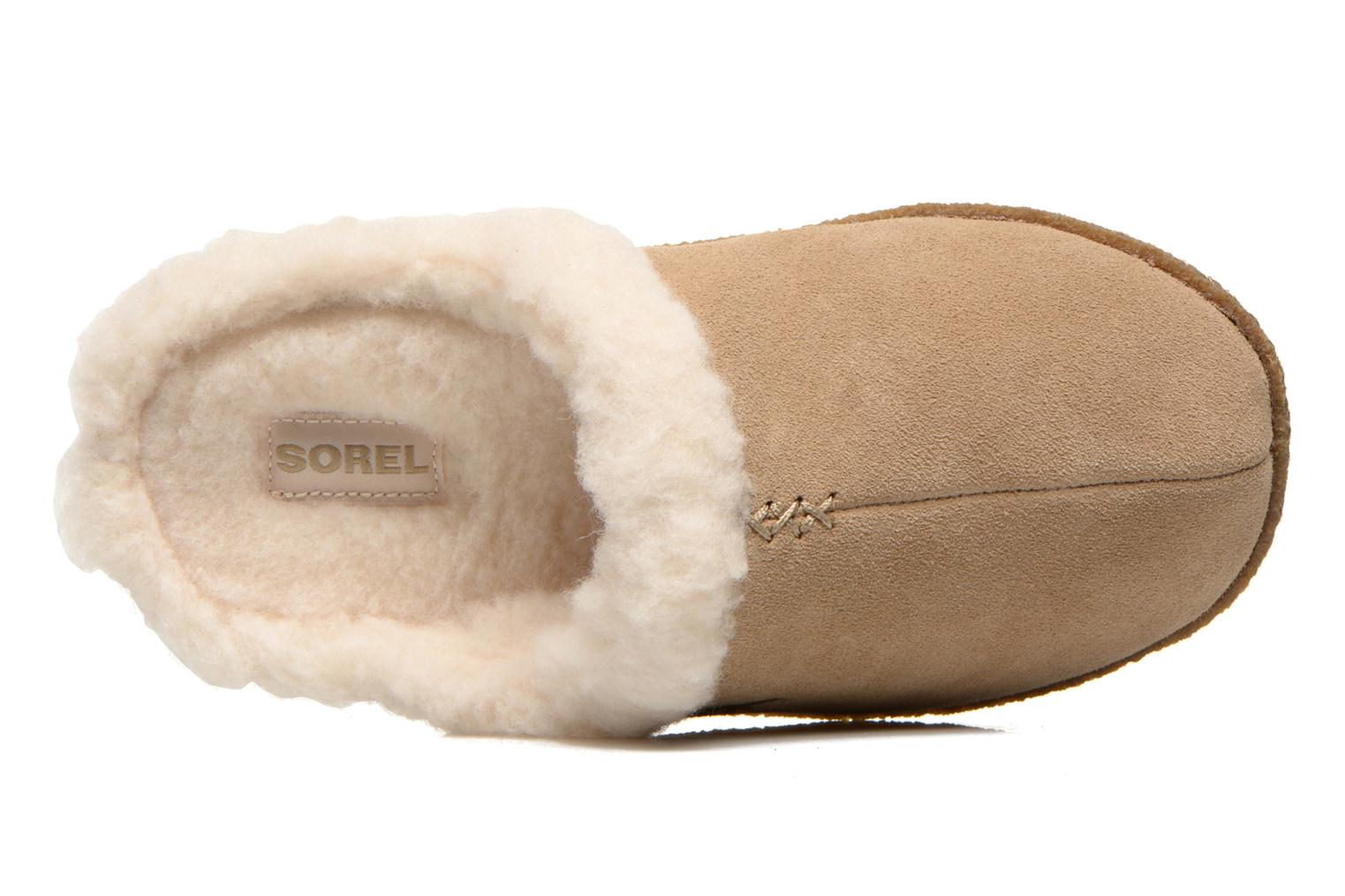 Slippers Sorel Nakiska slide Beige view from the left
