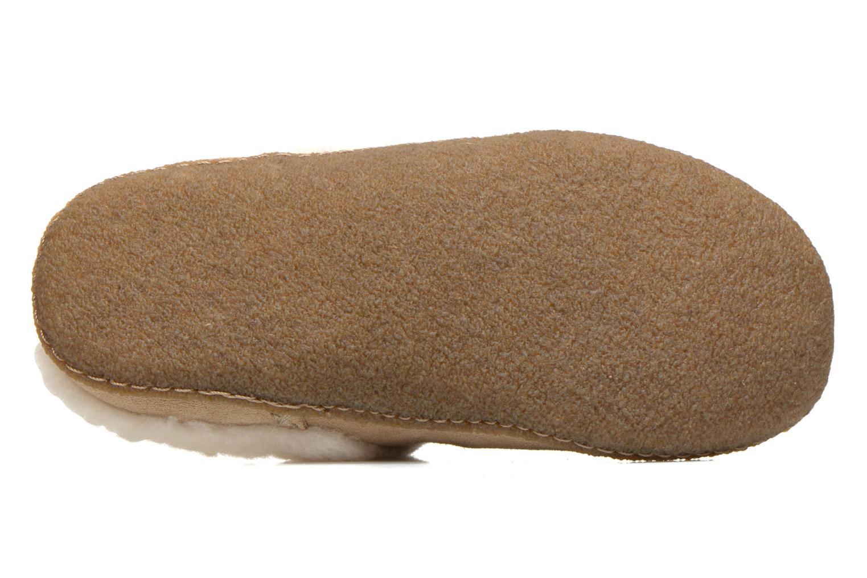 Pantoffels Sorel Nakiska slide Beige boven