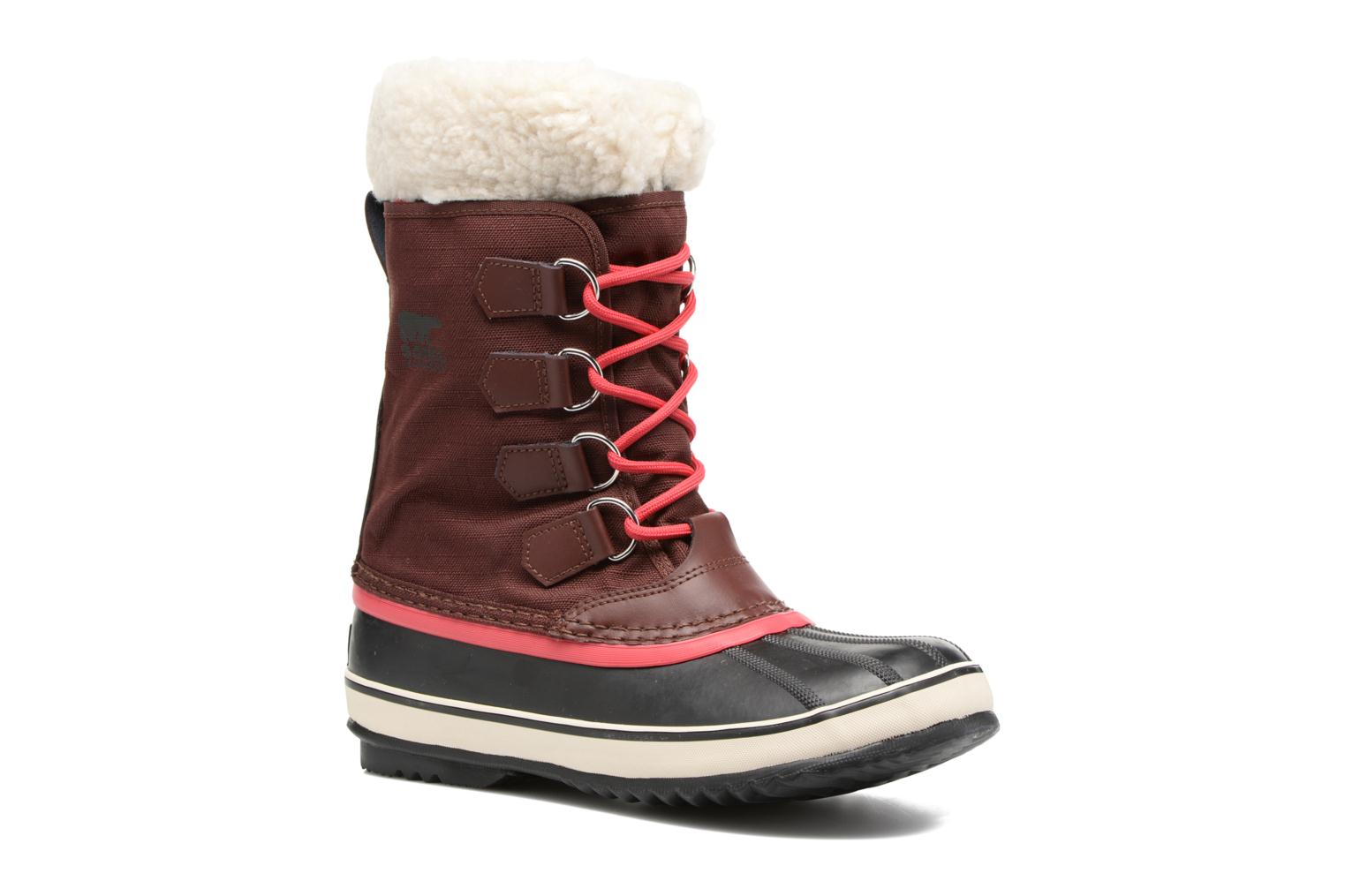 Sport shoes Sorel Winter carnival Burgundy detailed view/ Pair view