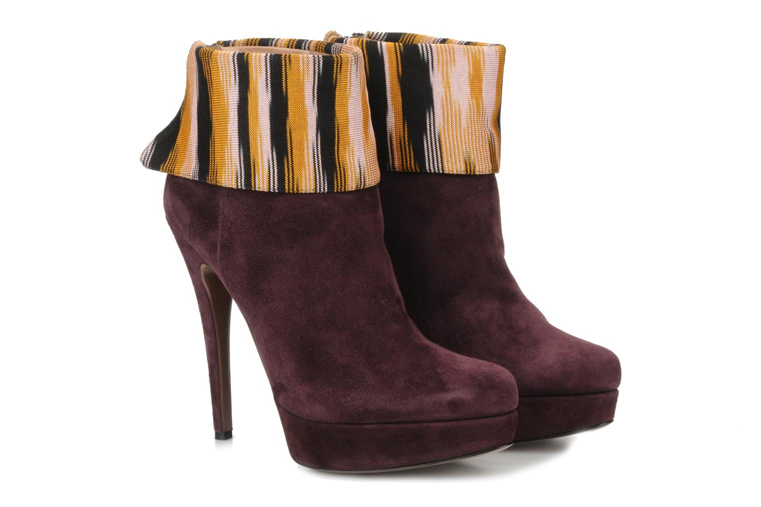 Ankle boots Missoni Sitia Burgundy 3/4 view