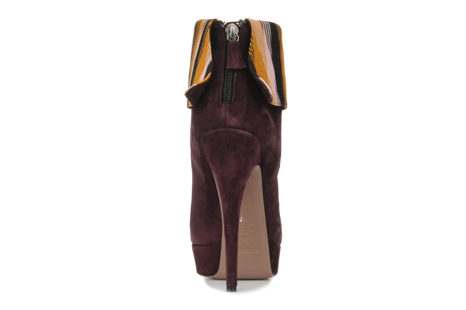 Ankle boots Missoni Sitia Burgundy view from the right
