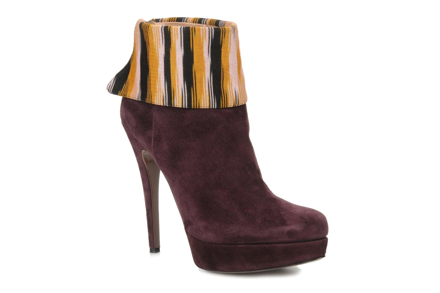 Ankle boots Missoni Sitia Burgundy detailed view/ Pair view