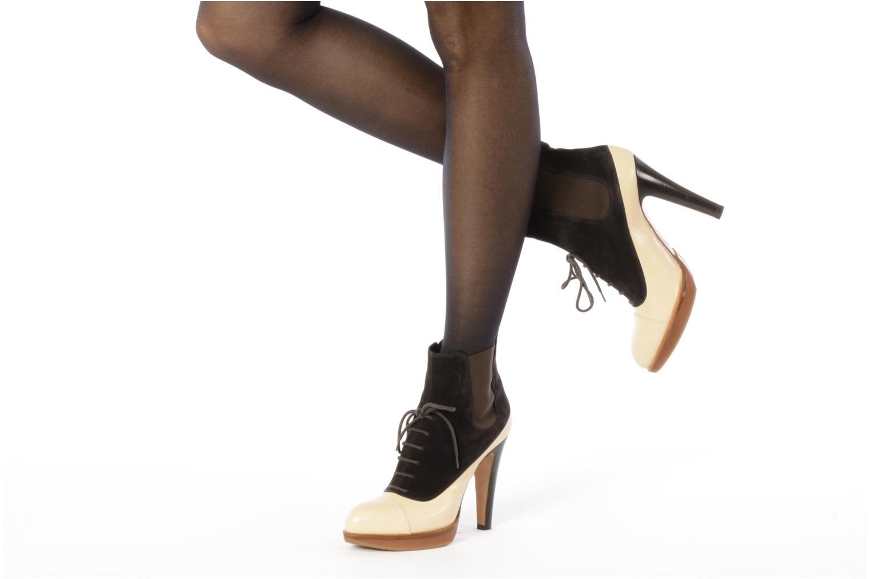 Bottines et boots Michel Perry Virona Beige vue bas / vue portée sac