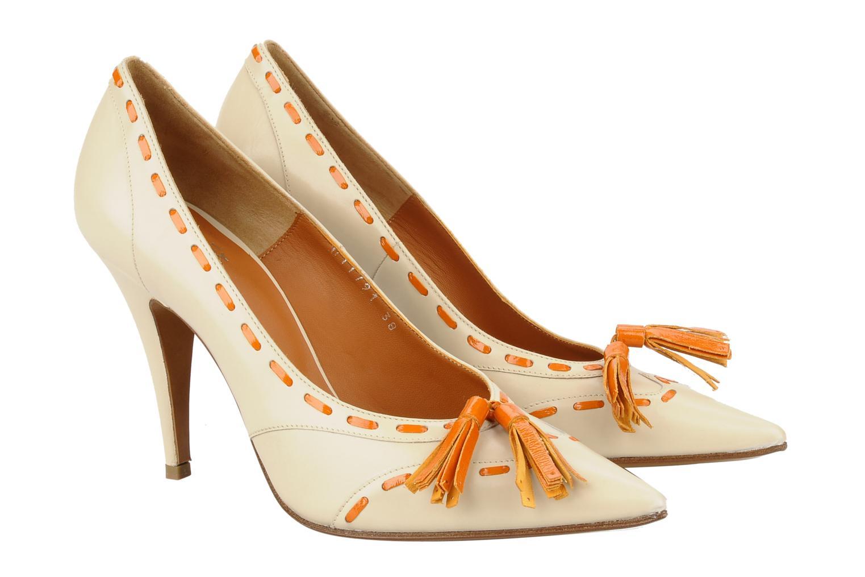 Zapatos de tacón Michel Perry Iraklia Beige vista 3/4