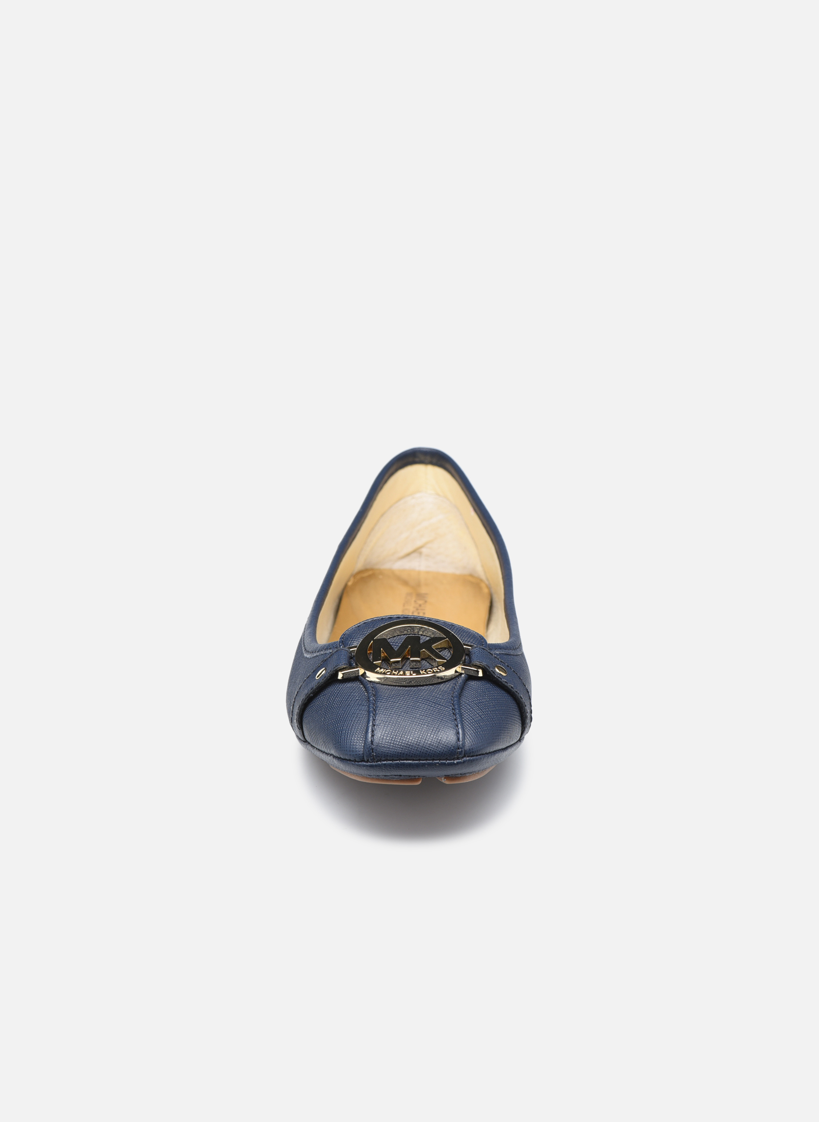 Ballerines Michael Michael Kors Fulton Moc Bleu vue portées chaussures