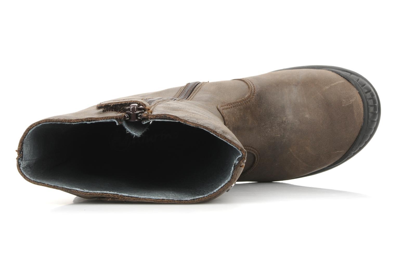 Stiefel Naturino Tracie braun ansicht von links