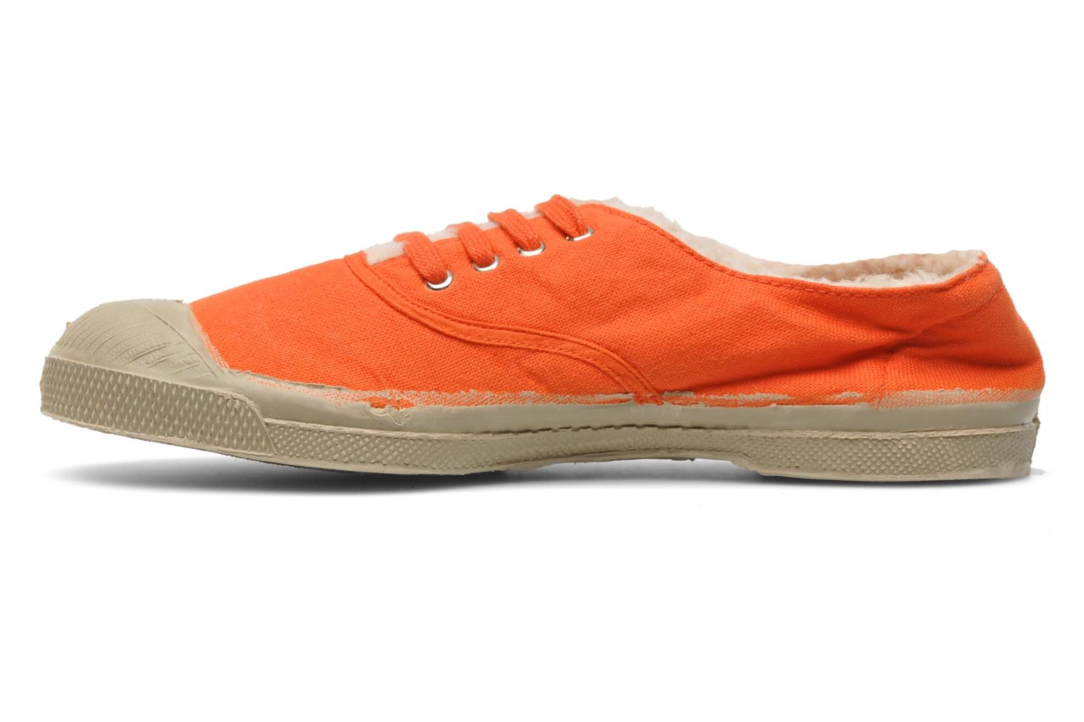 Baskets Bensimon Tennis Fourrees E Orange vue face