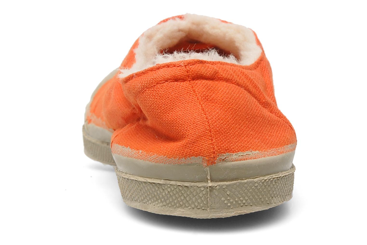 Baskets Bensimon Tennis Fourrees E Orange vue droite