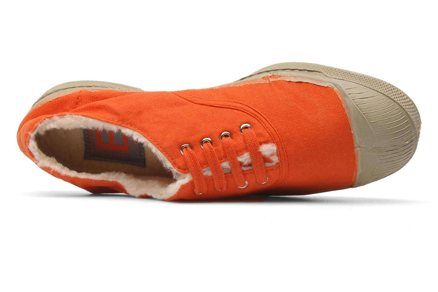 Trainers Bensimon Tennis fourrees e Orange view from the left