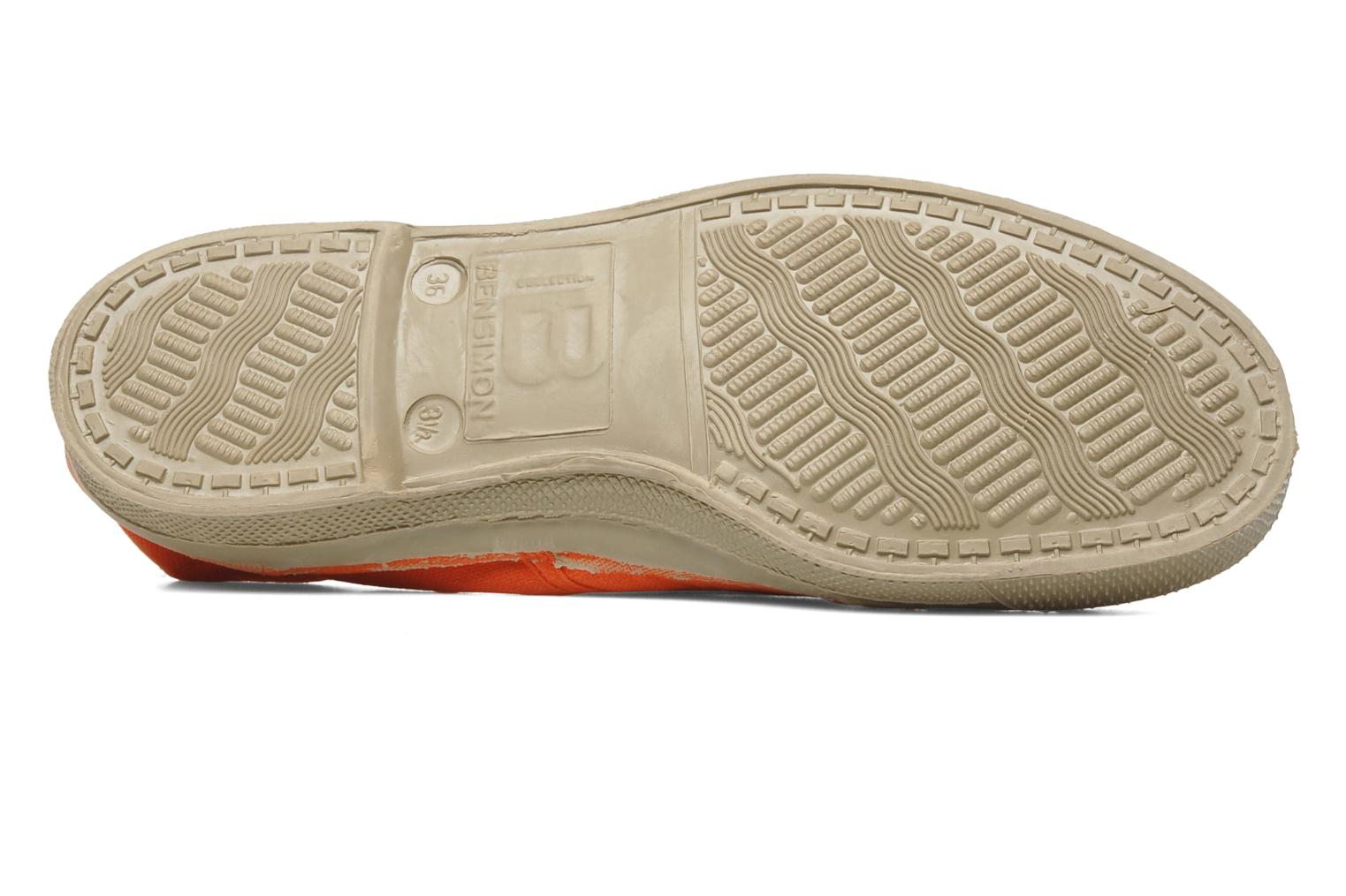 Baskets Bensimon Tennis Fourrees E Orange vue haut