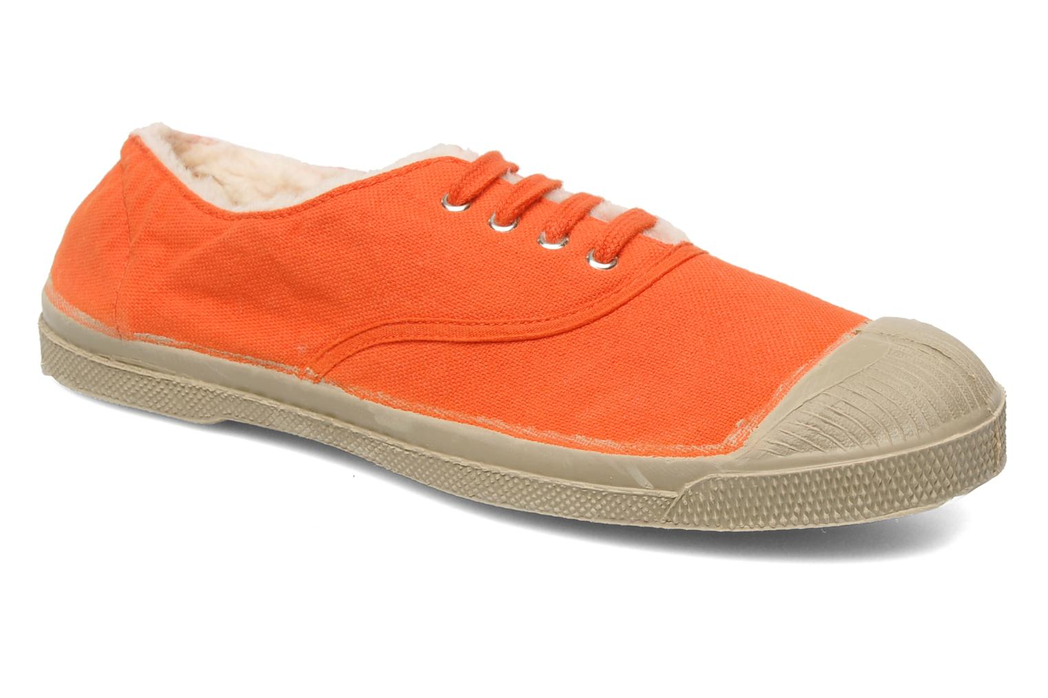 Baskets Bensimon Tennis Fourrees E Orange vue détail/paire