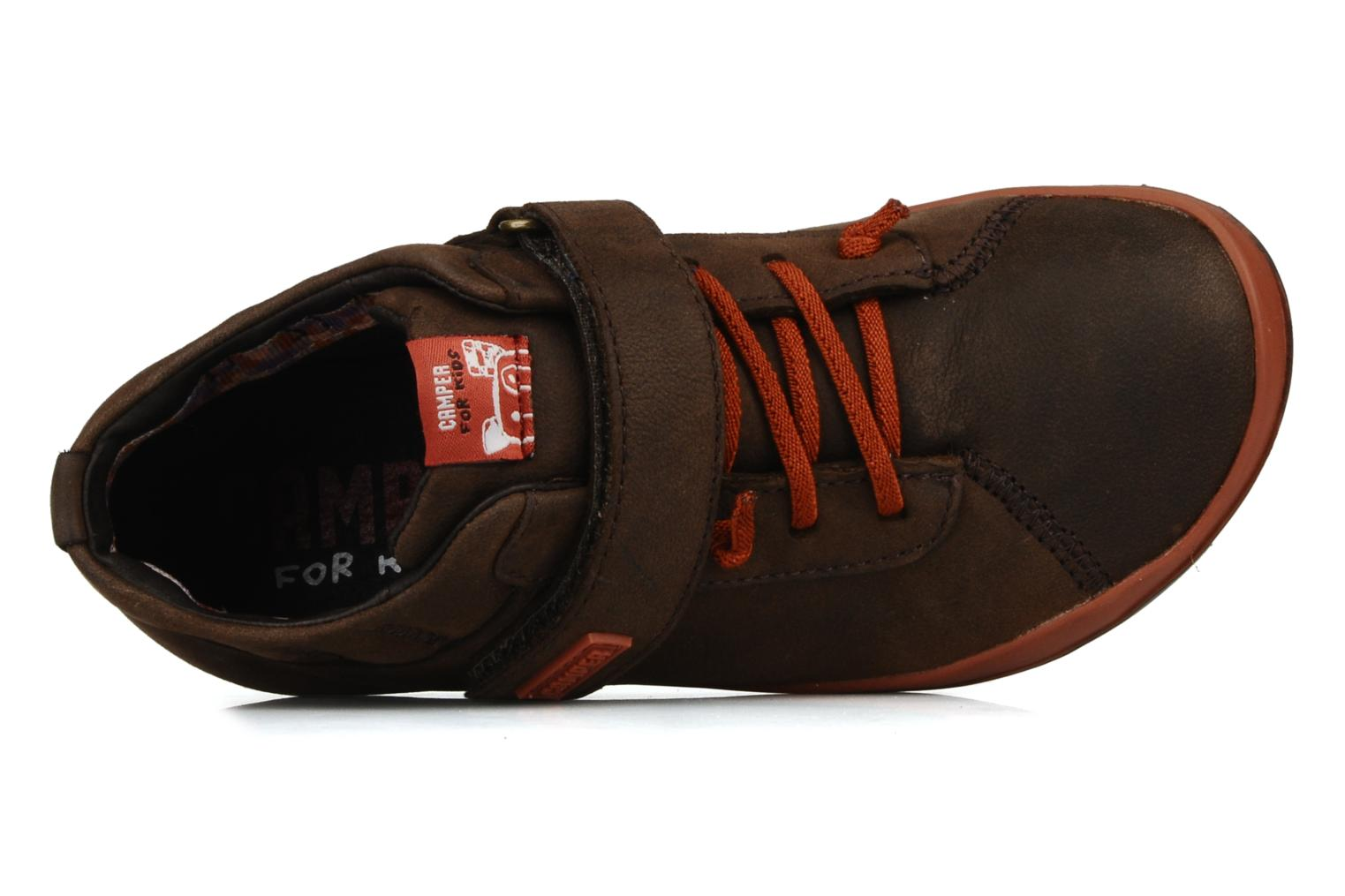 Trainers Camper Peu pista 90151 Brown view from the left