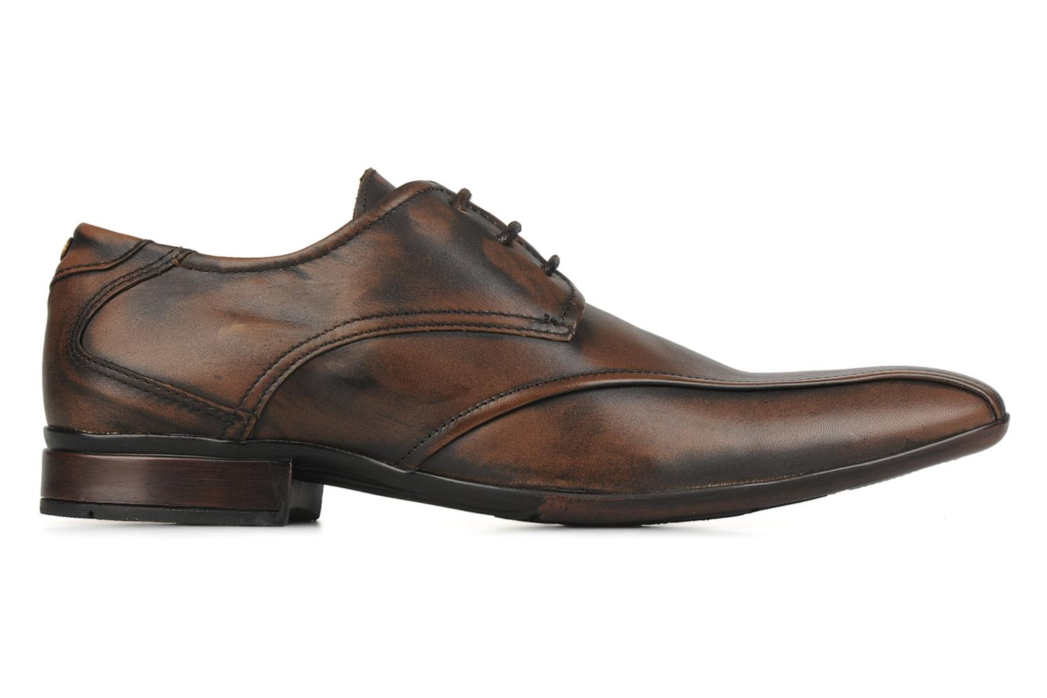Lace-up shoes Base London Aspect Brown back view