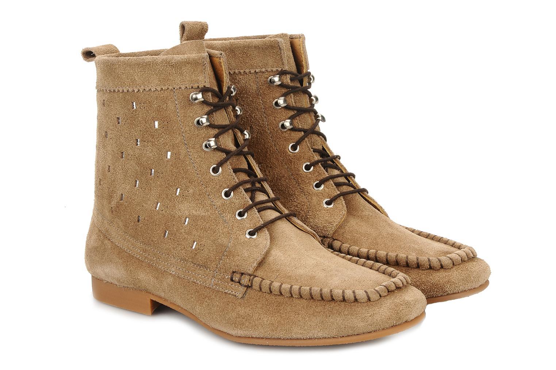 Bottines et boots Maloles Joyce Beige vue 3/4