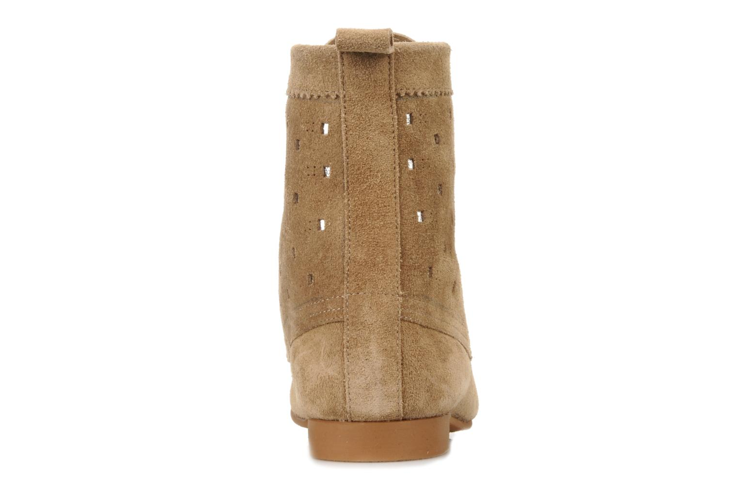 Ankle boots Maloles Joyce Beige view from the right