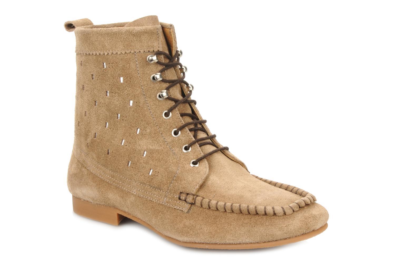 Bottines et boots Maloles Joyce Beige vue détail/paire