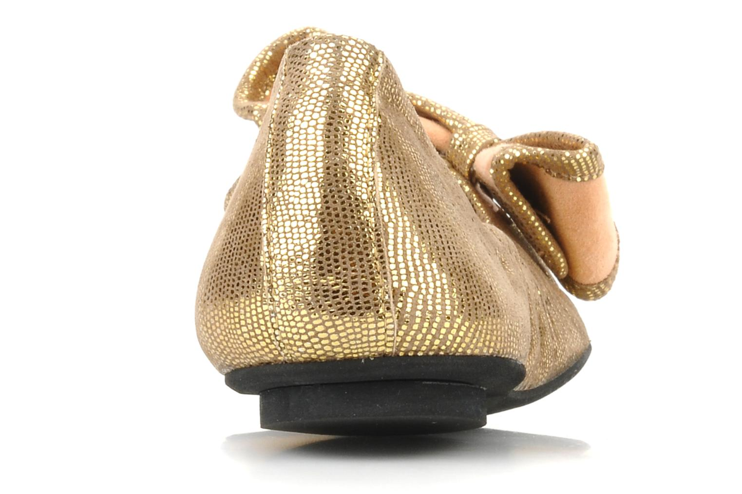 Ballet pumps Maloles Blanche Bronze and Gold view from the right