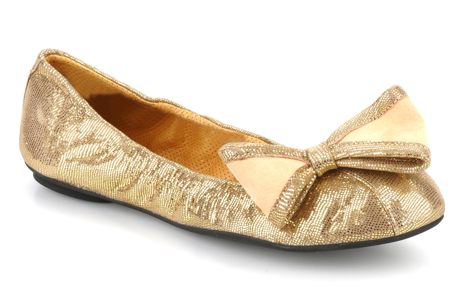 Ballet pumps Maloles Blanche Bronze and Gold detailed view/ Pair view