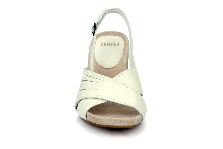 Sandalen Camper Rachael beige schuhe getragen