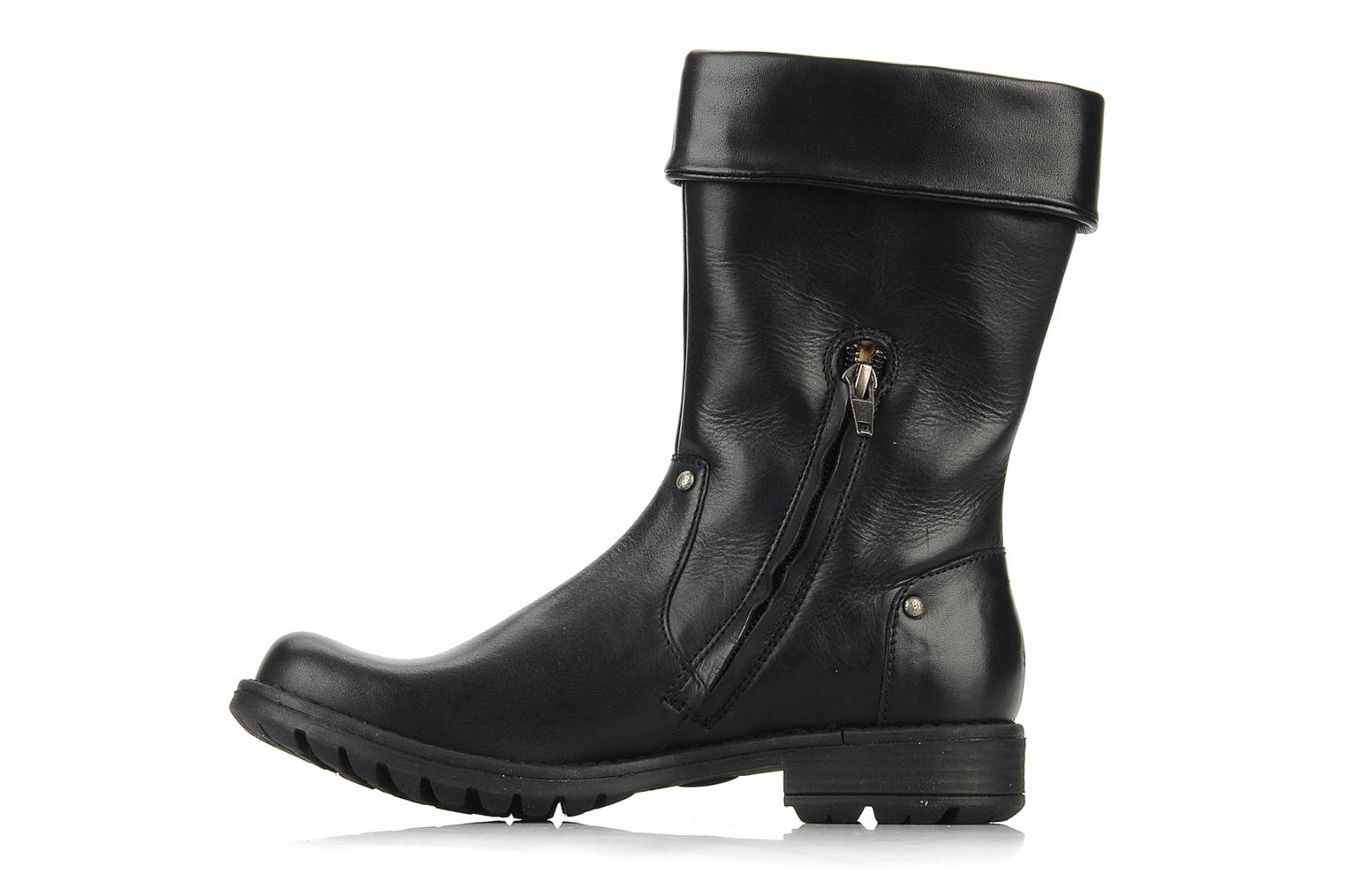 Boots & wellies Pom d Api Lina zip reverse Black front view