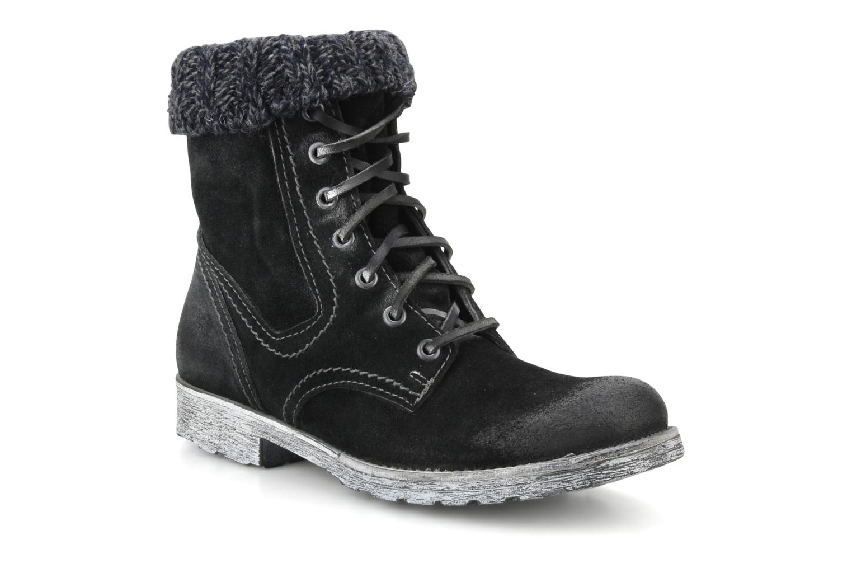 Ankle boots Cafè Noir Aroa Black detailed view/ Pair view