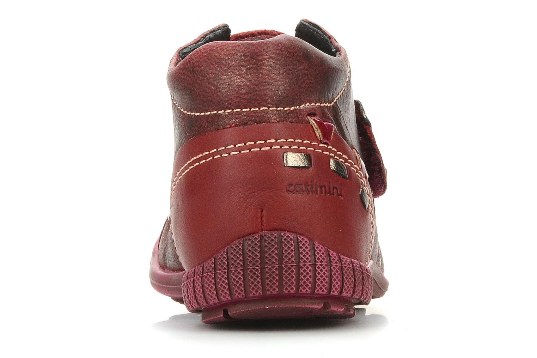 Chaussures à scratch Catimini Cati a23 Bordeaux vue droite