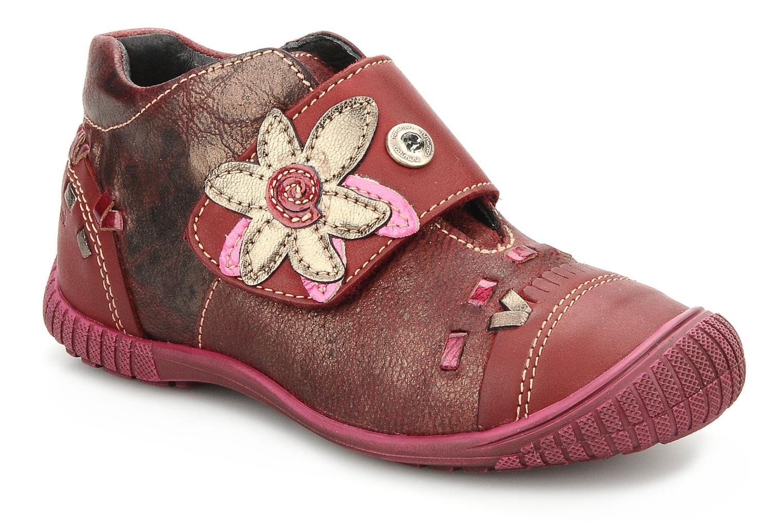 Chaussures à scratch Catimini Cati a23 Bordeaux vue détail/paire